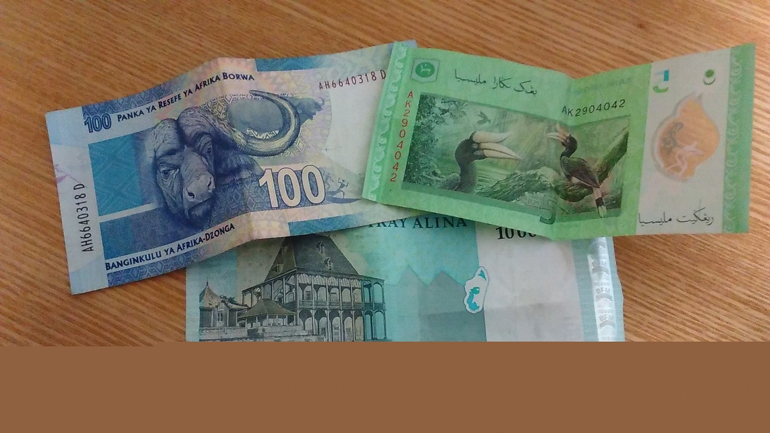南アフリカ、マダガスカル、マレーシアのお金