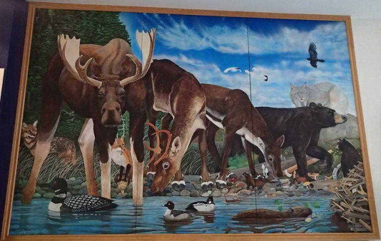 グロスモーン国立公園 ビジターセンターで飾ってあったこの地の動物の絵画