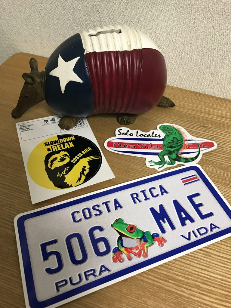 コスタリカの生き物ステッカー