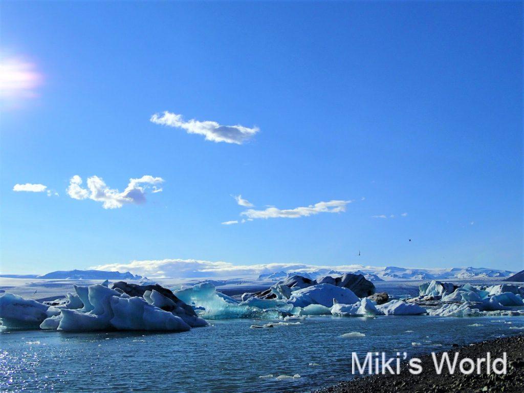 アイスランドのヨークルサゥルロゥン氷河湖