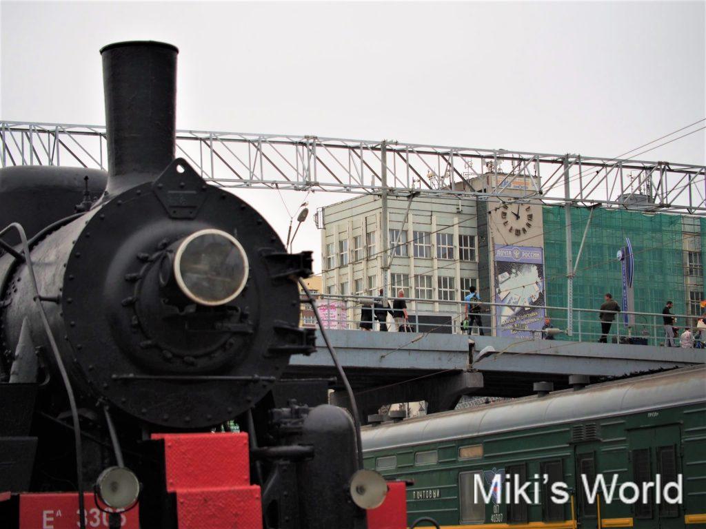 ウラジオストックの駅ホームから撮影