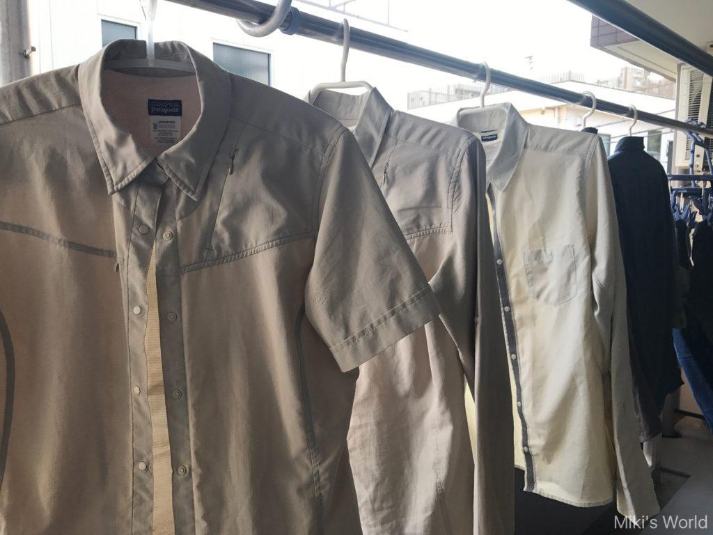 愛用のパタゴニアのシャツ  自然観察の時の服装  通気性と速乾性