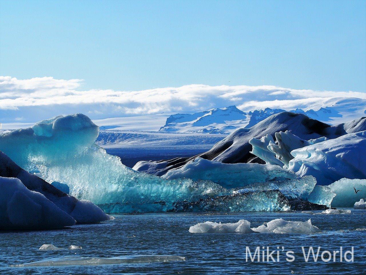 アイスランドの氷河湖 青の世界 ヨークルスアゥルロゥン氷河湖はイチオシですが、、、