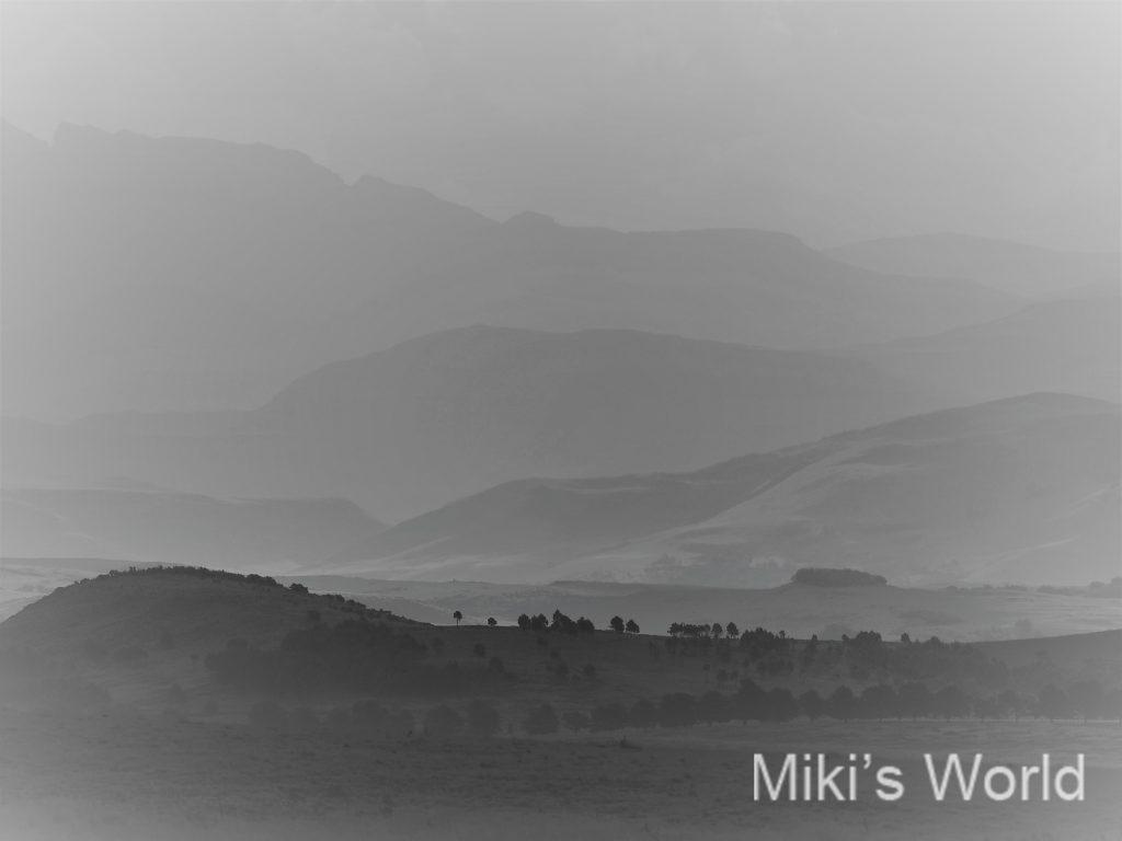 南アフリカドラケンスバーグ山脈