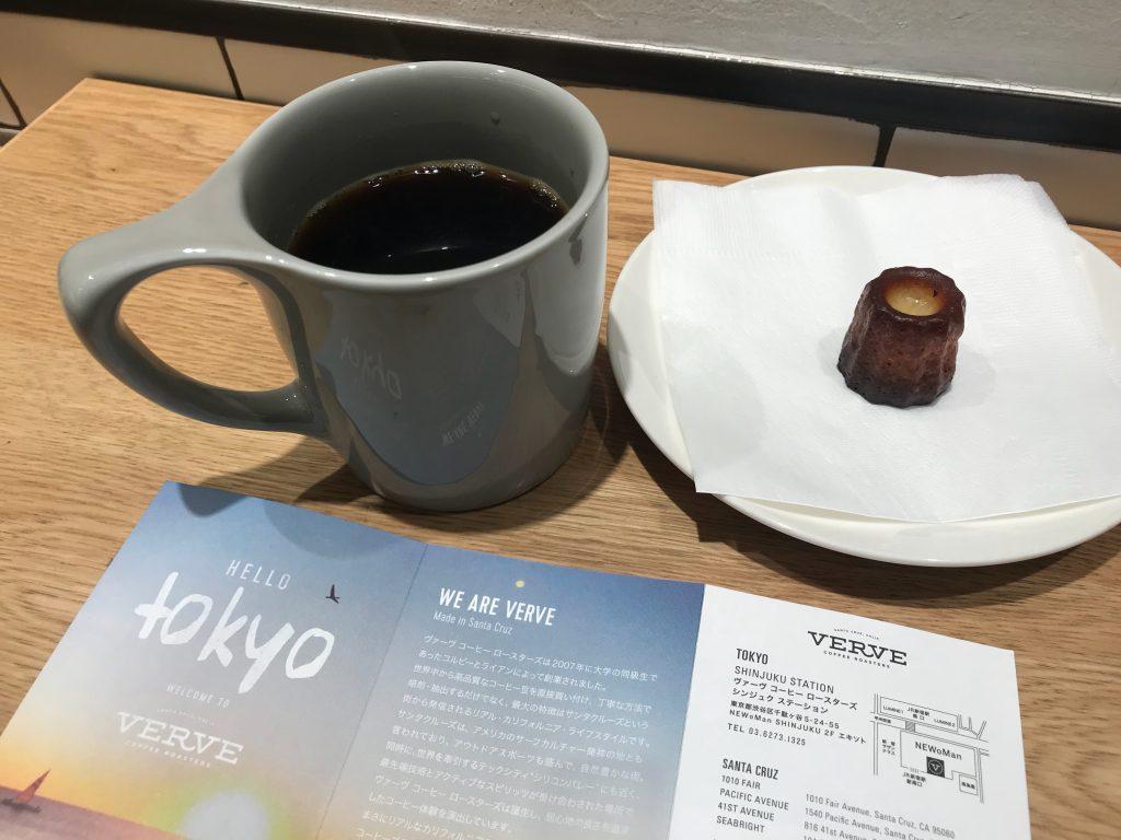 VERVE 新宿南口バスタ近くのコーヒーショップの極小カヌレ