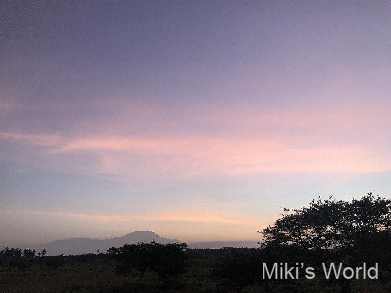 北部タンザニアにサファリに訪れて、キリマンジャロ山を見るには