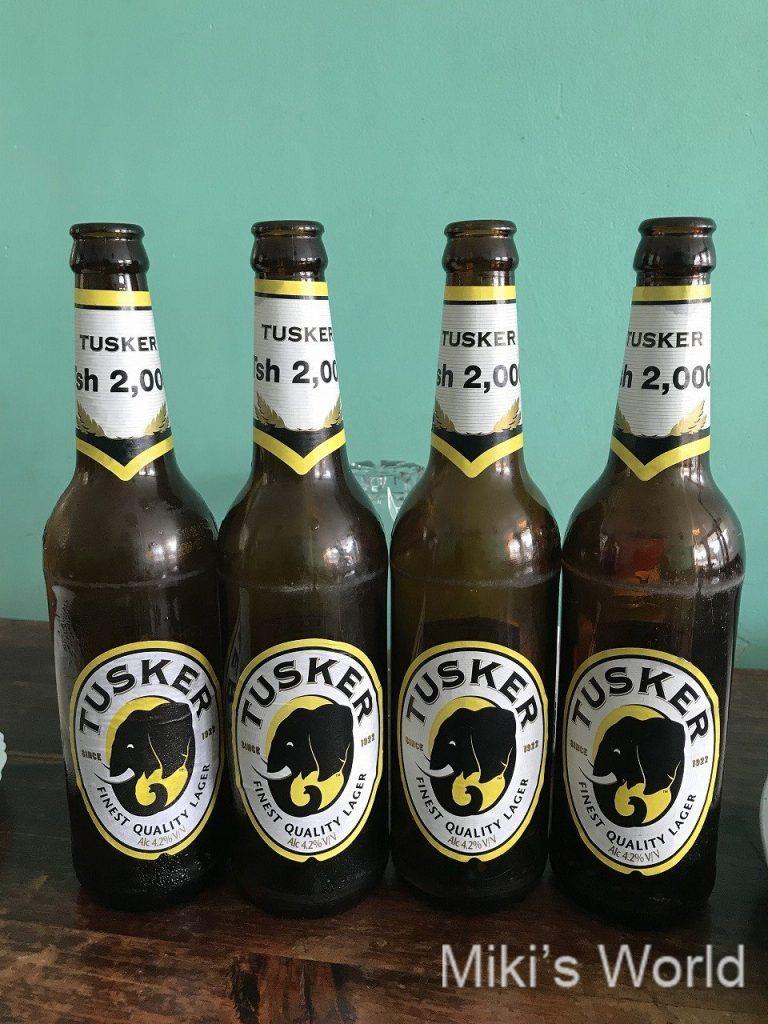 タンザニアで飲めるビール タスカ― TUSKER