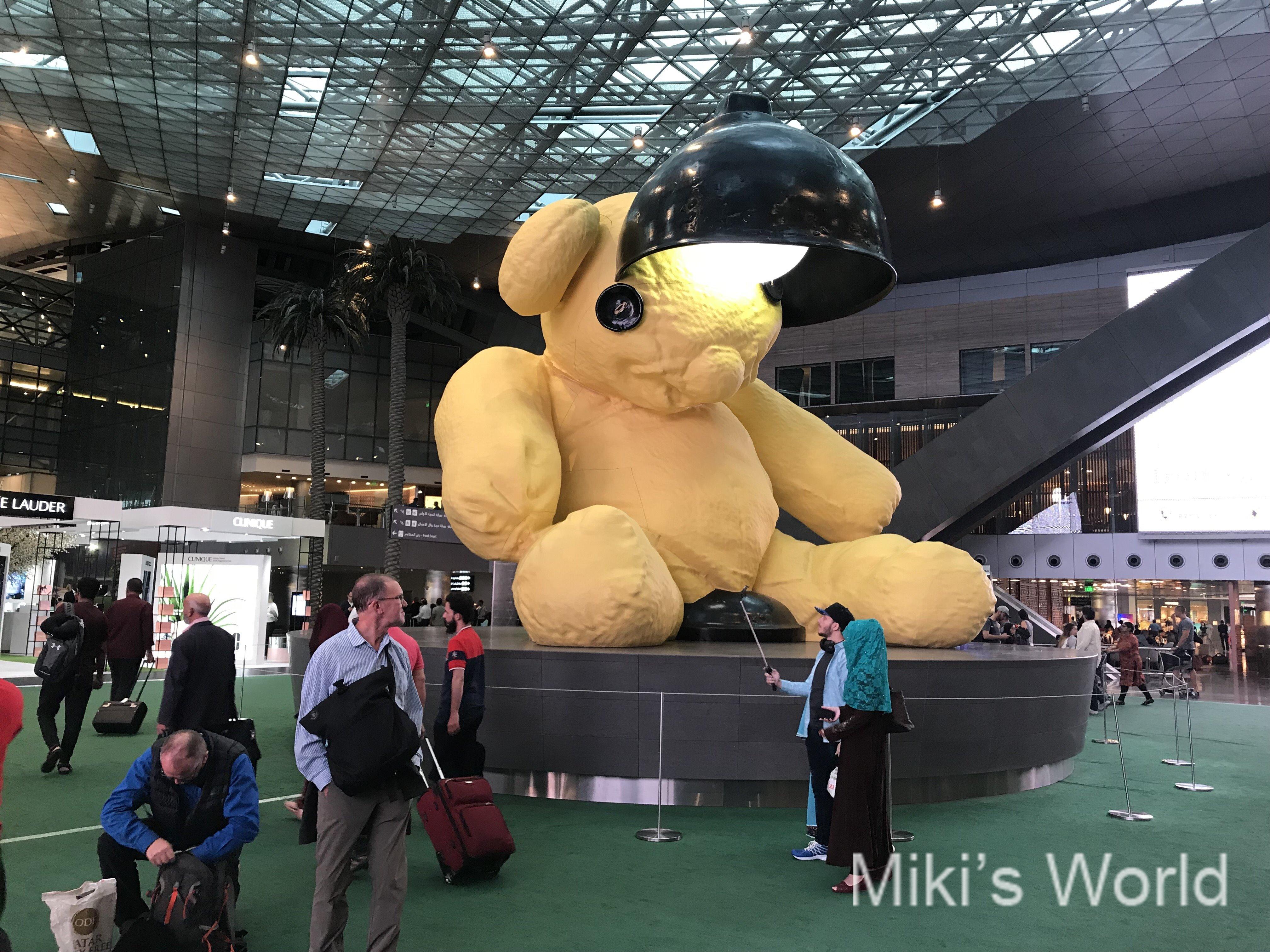 中東ドーハ カタール航空の本拠地 ハマド国際空港からおはようございます!