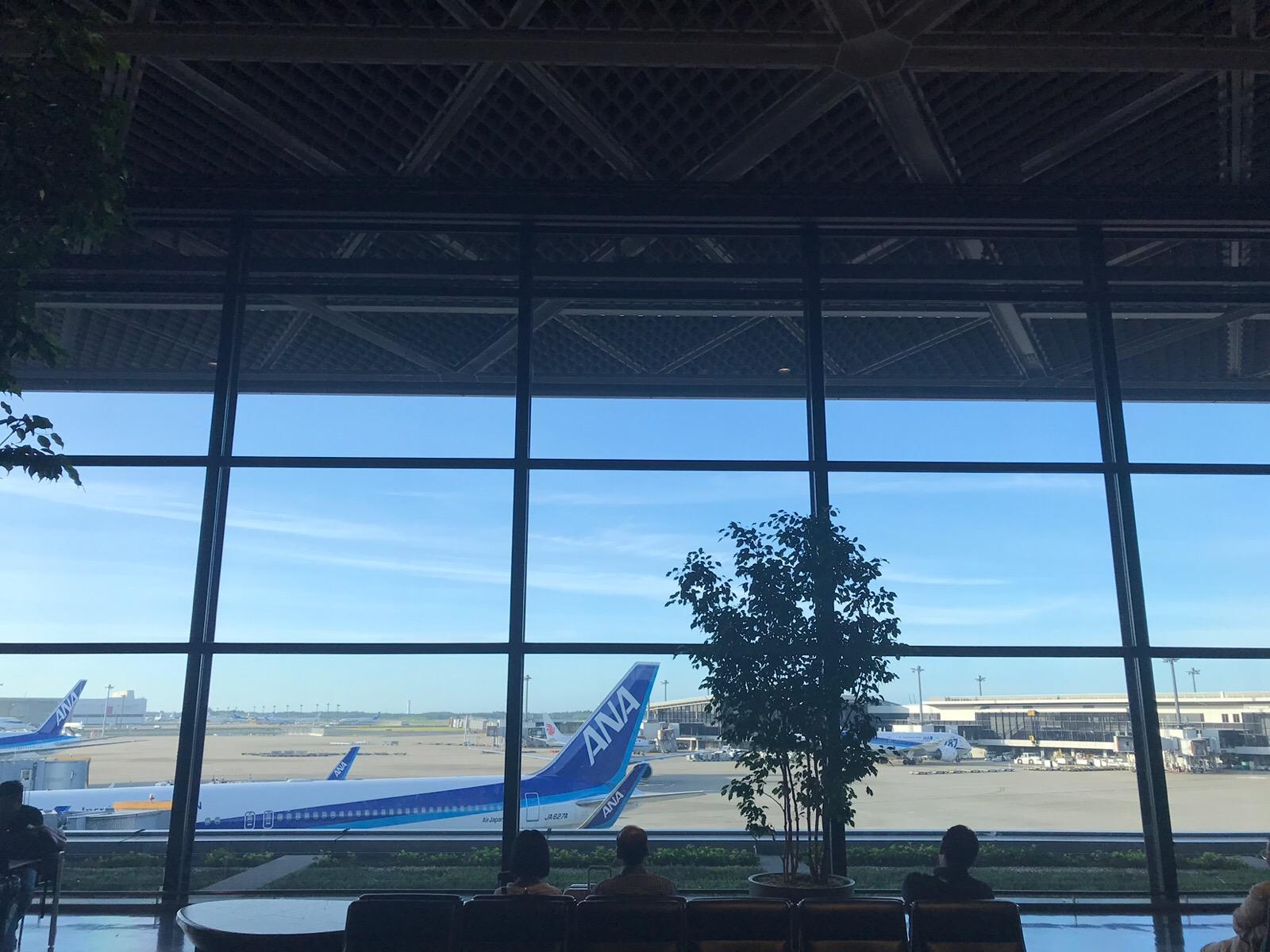 成田空港からおはようございます!