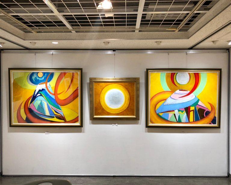 三ツ峠山荘 中村光吉さんの油彩と写真展を見に行って