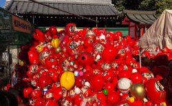 川越 喜多院のだるま市 ひとまわり大きなだるまを買った 2019年1月3日